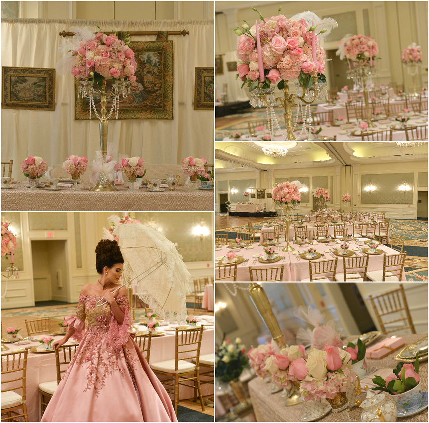 A Magic Moment Photographs Marie Antoinette-Themed Bridal Shower at Loew's Portofino Bay Hotel